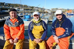 L-R Dreckly Fish: Andrew Stevens, Francis Harris and Kevin Penney
