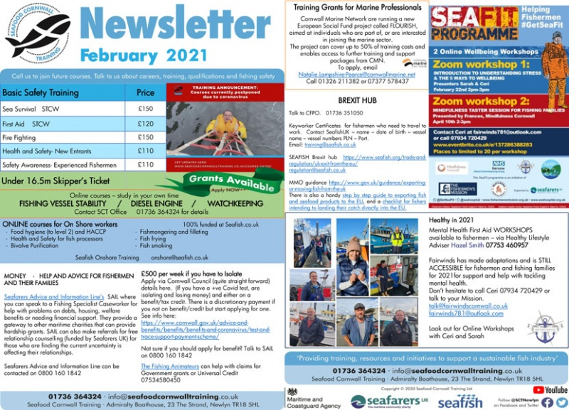 Seafood Cornwall Training - 2021 February Newsletter