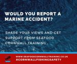 Would you report a marine accident?